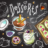 Sweets food top view Stock Image
