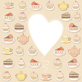 Sweets frame. Stock Images