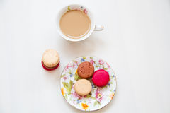 Sweets french dessert macaroon colourful Stock Photography
