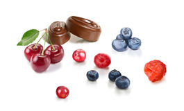 Sweets and fruits Royalty Free Stock Images