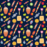 Sweets funny background with candies Royalty Free Stock Photography
