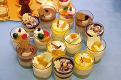 Sweets glass Stock Images