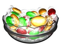 Sweets in a glass vase. On a white background Royalty Free Stock Image