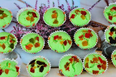 Sweets green cup Stock Photography