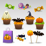 Sweets for Halloween. Illustration of sweets for halloween Stock Photography