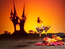 Sweets in Halloween setting Royalty Free Stock Photos