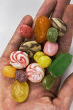 Sweets - hand of candy Royalty Free Stock Images