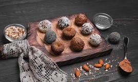 Sweets handmade chocolates Royalty Free Stock Photos