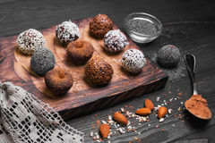 Sweets handmade chocolates Stock Photos