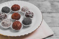 Sweets handmade chocolates Royalty Free Stock Photography