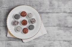 Sweets handmade chocolates Stock Image
