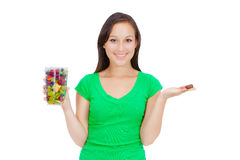 Sweets and healthy food Royalty Free Stock Photos