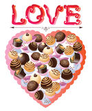 Sweets heart. With love, Valentine background Stock Photography