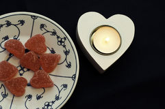 Sweets heart Stock Photos