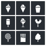 Sweets and ice cream icon set Royalty Free Stock Image