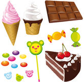 Sweets - ice creams Stock Image