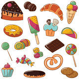 Sweets Icon Set Stock Photo