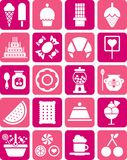 Sweets icons. This is a collection of icons related with sweets Stock Photography