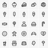 Sweets icons Stock Images