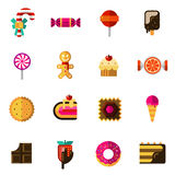 Sweets Icons Set Royalty Free Stock Images