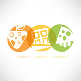 Sweets icons Royalty Free Stock Photography