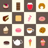 Sweets icons set Royalty Free Stock Image