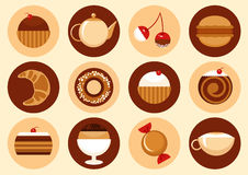 Sweets icons set Royalty Free Stock Photo