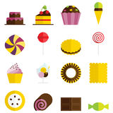 Sweets icons Royalty Free Stock Photos