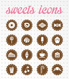 Sweets icons.vector icon set. Stock Image
