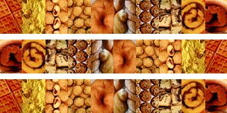 Sweets inside vertical rectangles Stock Images