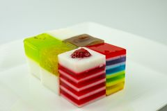 Sweets Jelly candies colorful. On white background royalty free stock photo