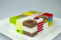 Sweets Jelly candies colorful. On white background stock photos