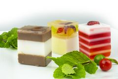Sweets Jelly candies colorful. On white background royalty free stock image