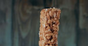 Sweets kozinaki made from sunflower seeds and caramel sugar. stock video