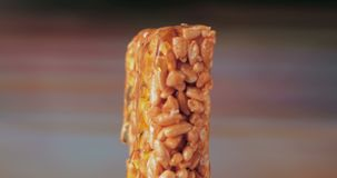 Sweets kozinaki made from sunflower seeds and caramel sugar. stock video footage