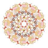 Sweets mandala Royalty Free Stock Image