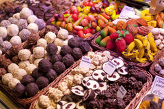 Sweets on the market Royalty Free Stock Photo