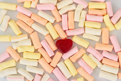 Sweets - Marshmallow and Fruit Jelly Hearts. Stock Photos