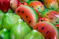 Sweets marzipan Stock Photography