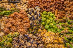 Sweets on the moroccan market Royalty Free Stock Photography