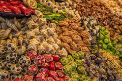 Sweets on the moroccan market Royalty Free Stock Image