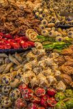 Sweets on the moroccan market Stock Images