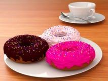 sweets śniadanie Obrazy Royalty Free