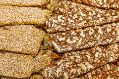 Sweets with nuts and sesame Royalty Free Stock Photography