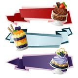 Sweets paper banners Stock Image