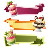 Sweets paper banners Royalty Free Stock Image