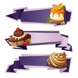 Sweets paper banners Royalty Free Stock Photography
