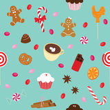 Sweets pattern Royalty Free Stock Image