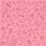 Sweets on pink Stock Photos