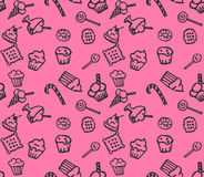 Sweets pink  pattern Stock Images